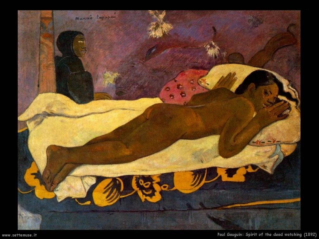 Paul Gauguin Spirito della morte che osserva 1892