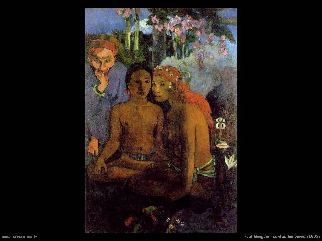 Paul Gauguin contes barbares 1902