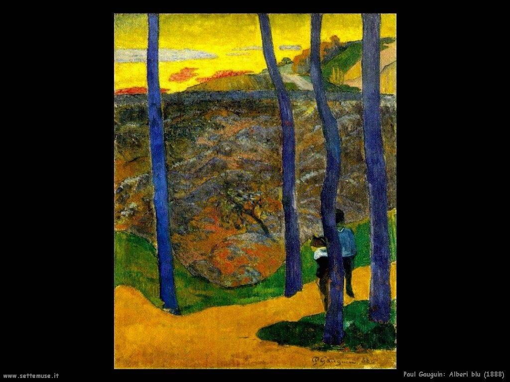 Paul Gauguin alberi blu 1888