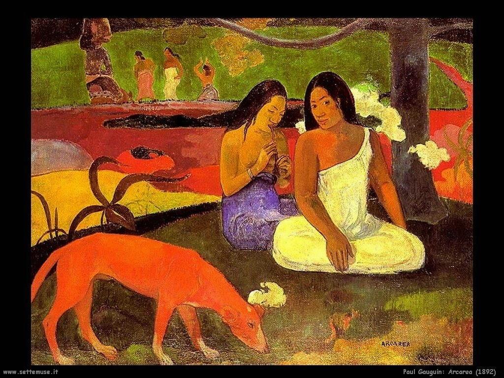 Paul Gauguin arcarea 1892