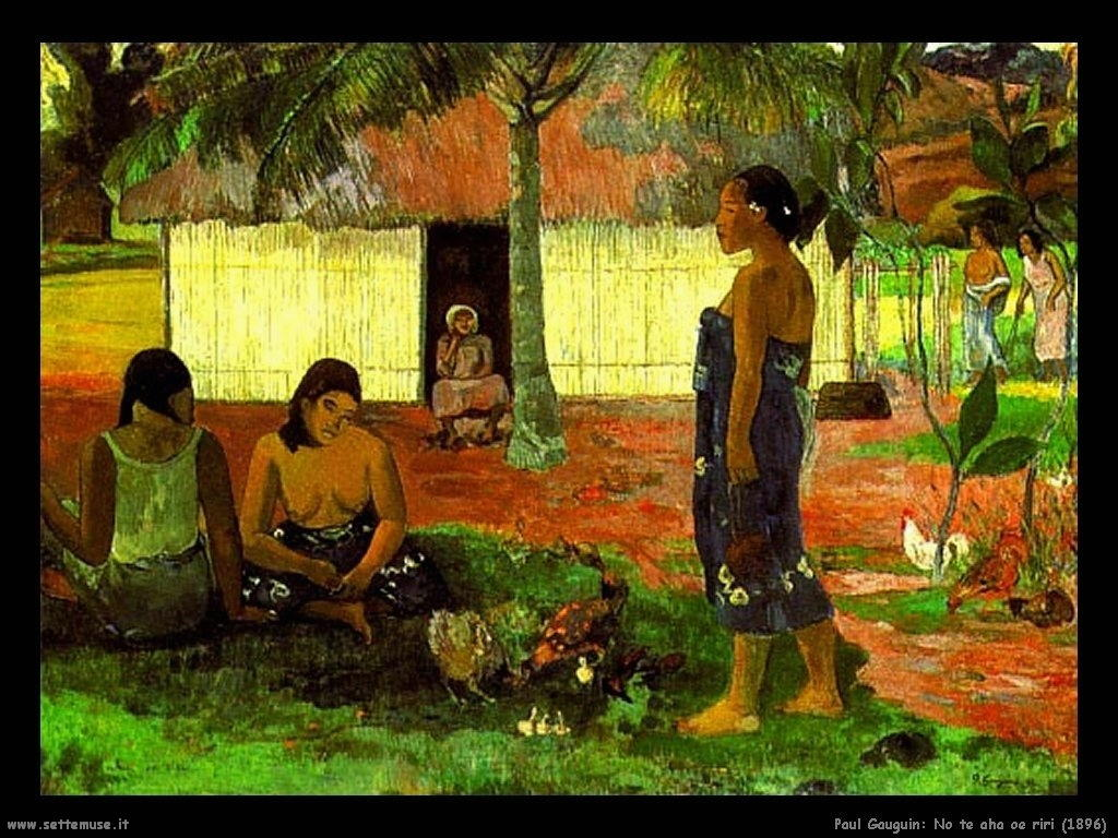 Paul Gauguin no te aha oe riri 1896
