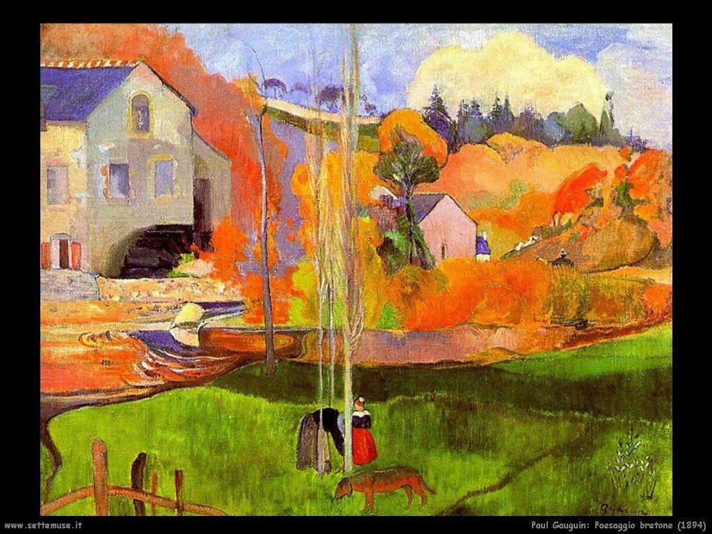 Paul Gauguin paesaggio bretone 1894