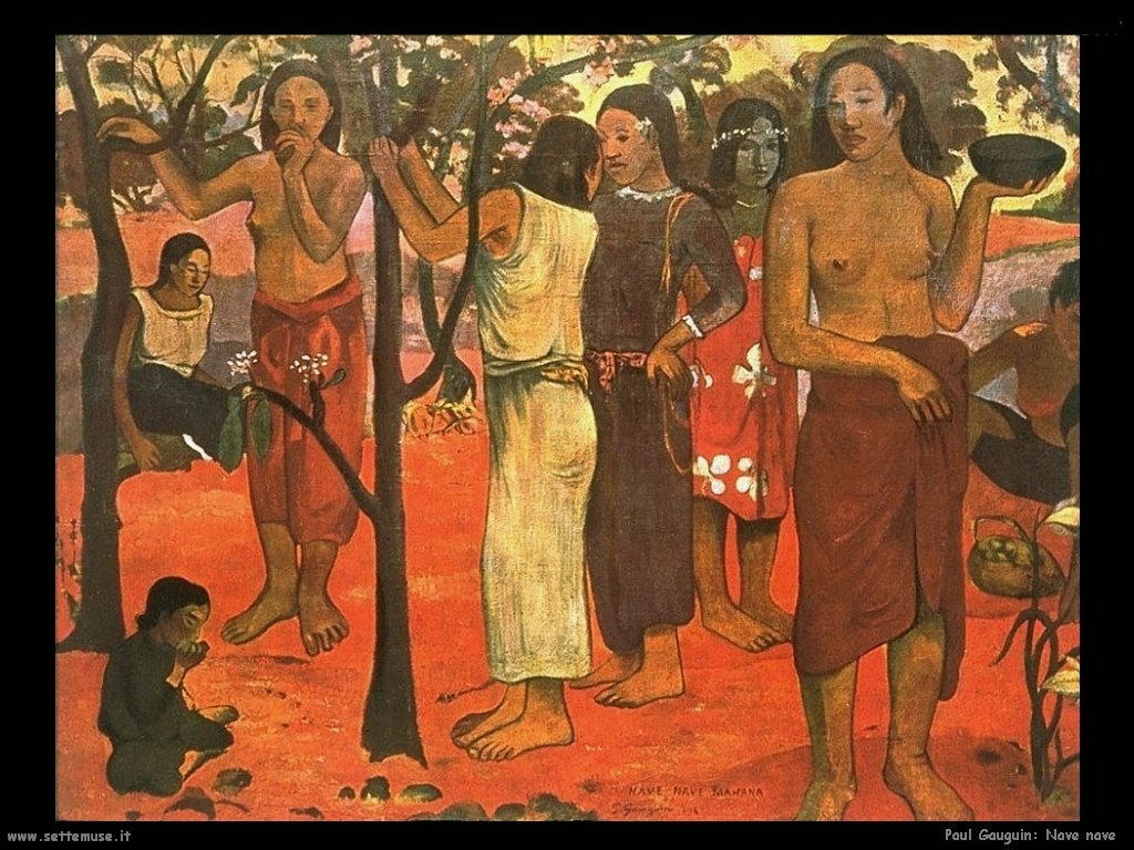 Paul Gauguin navenave mahana 1896