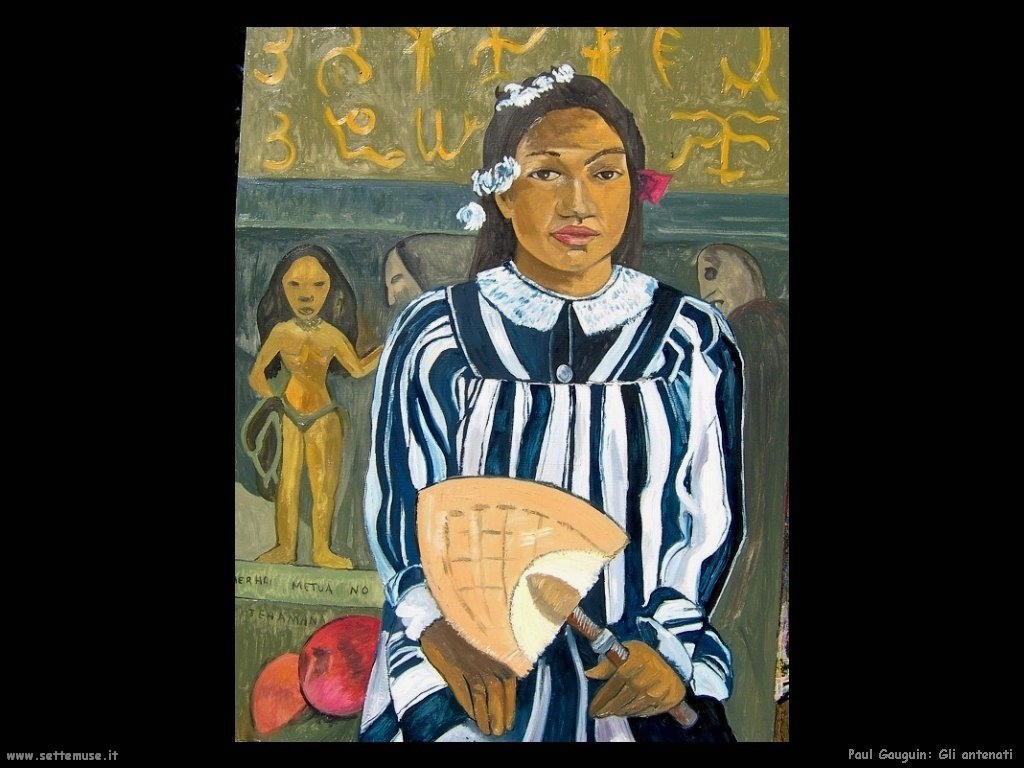 Paul Gauguin gli antenati