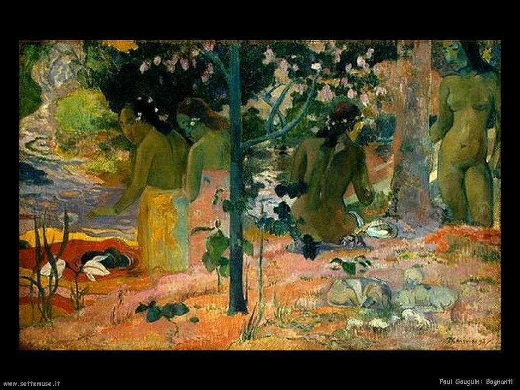 Paul Gauguin bagnanti