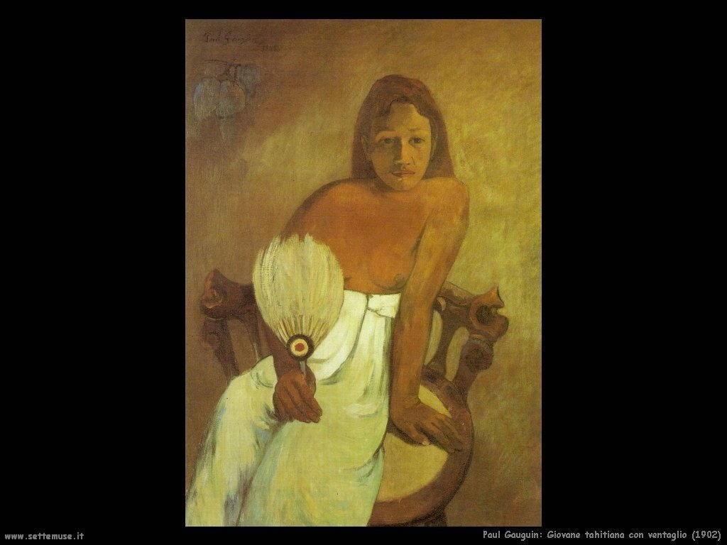 Paul Gauguin giovanetta tahitiana con ventaglio 1902