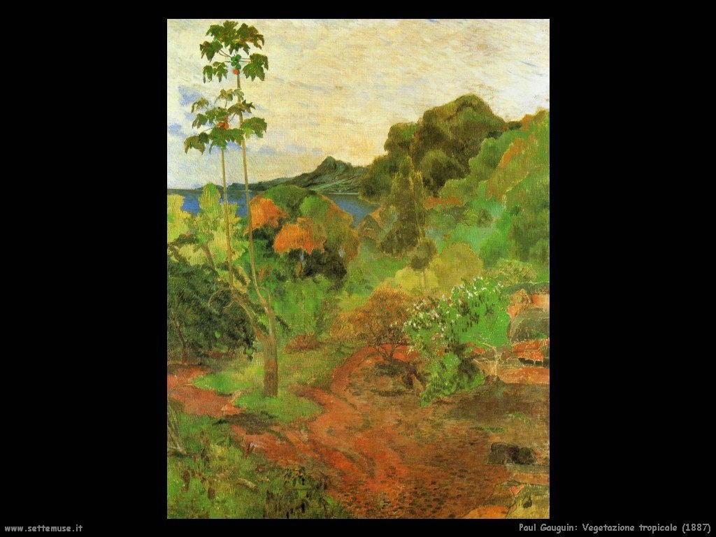 Paul Gauguin vegetazione tropicale 1887