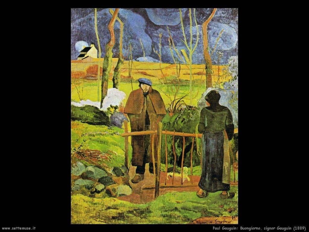 Paul Gauguin buongiorno signor gauguin 1889
