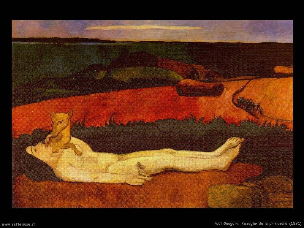 Paul Gauguin risveglio della primavera 1891