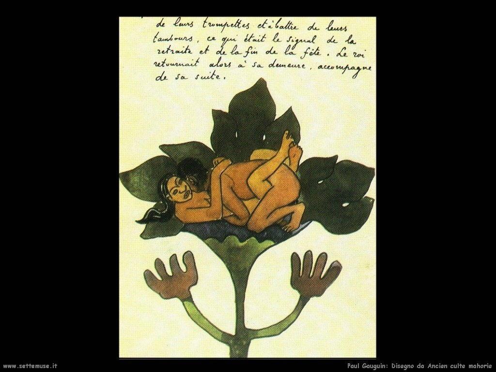 Paul Gauguin disegno da ancien culte mahorie