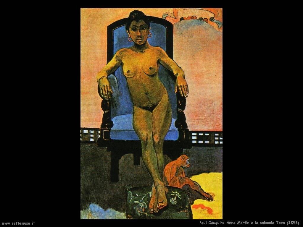 Paul Gauguin anna martin e la scimmia taoa 1893