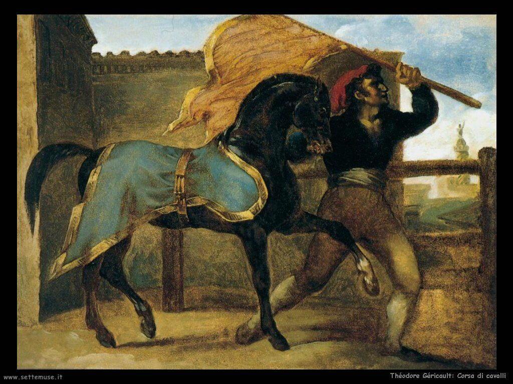 Theodore Gericault Corsa di cavalli