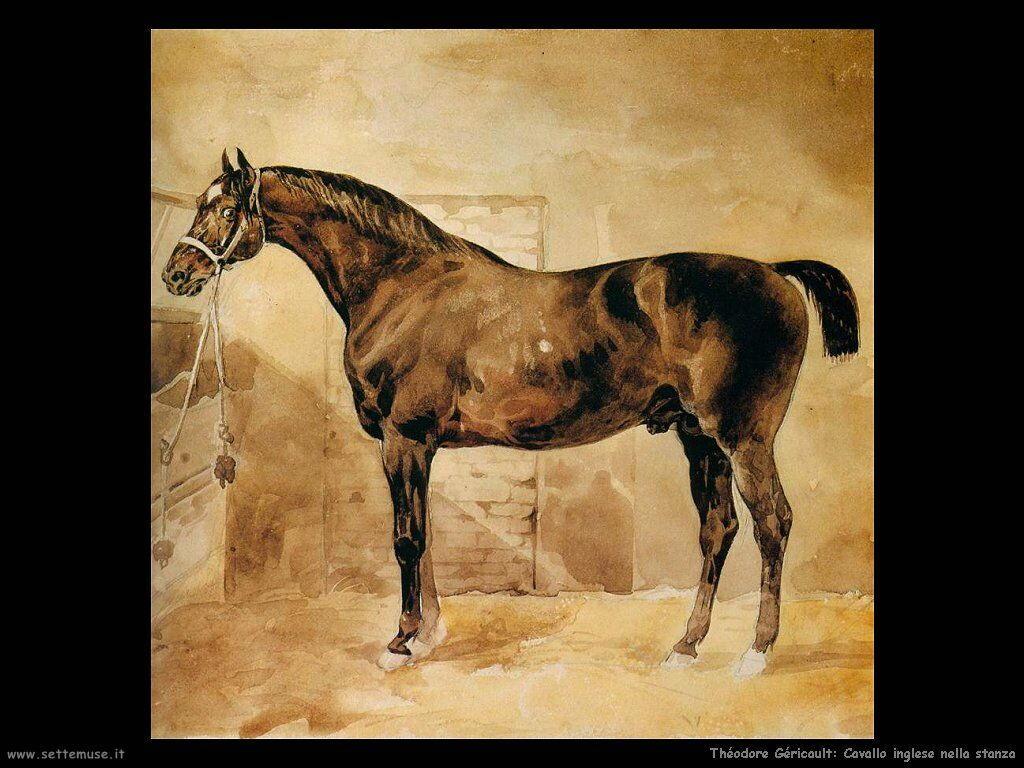 Cavallo inglese nella stalla