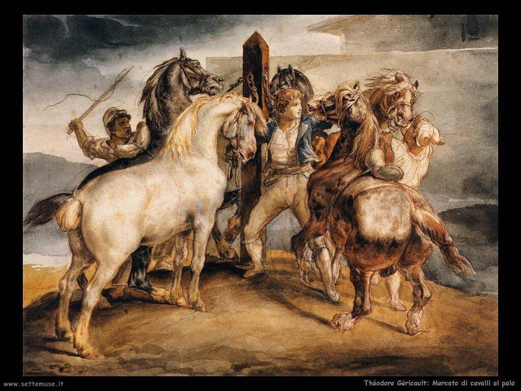 Mercato di cavalli al palo