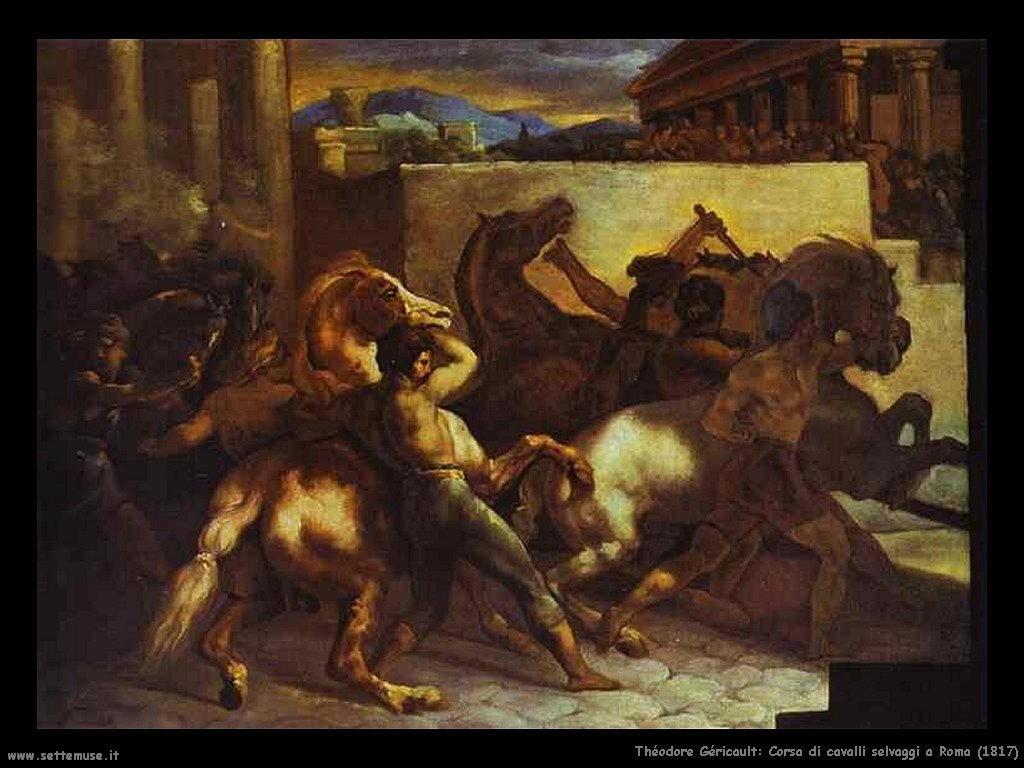 Corsa di cavalli selvaggi a Roma (1817)