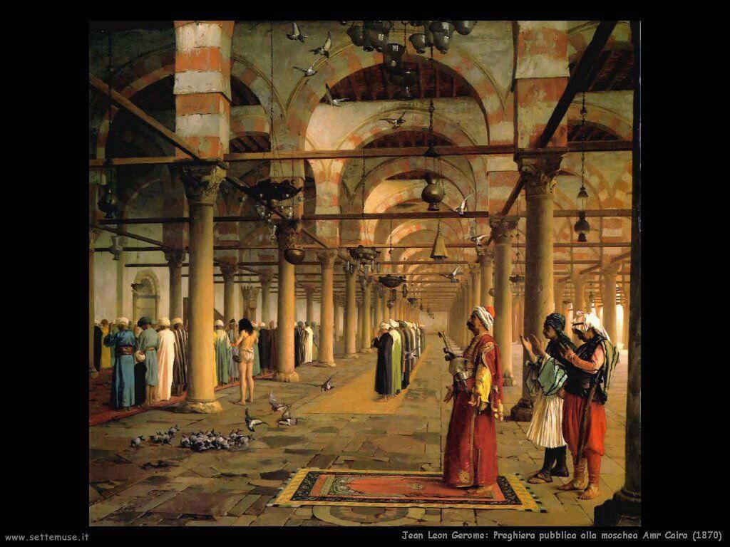 jean_leon_gerome_080_preghiera_pubblica_moschea_amr_cairo_1870
