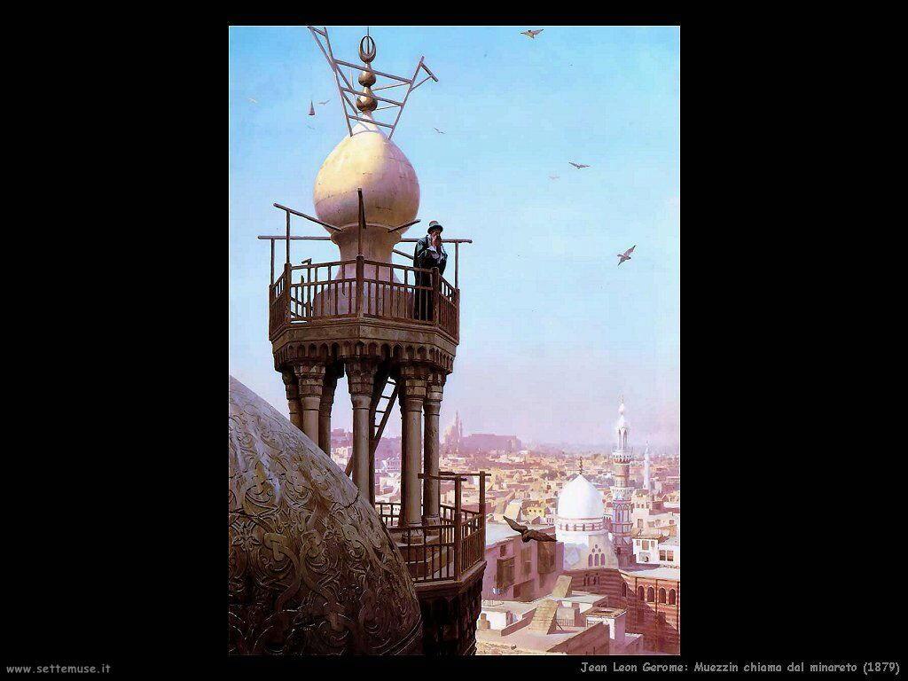 jean_leon_gerome_085_muezzin_chiama_dal_minareto_1879