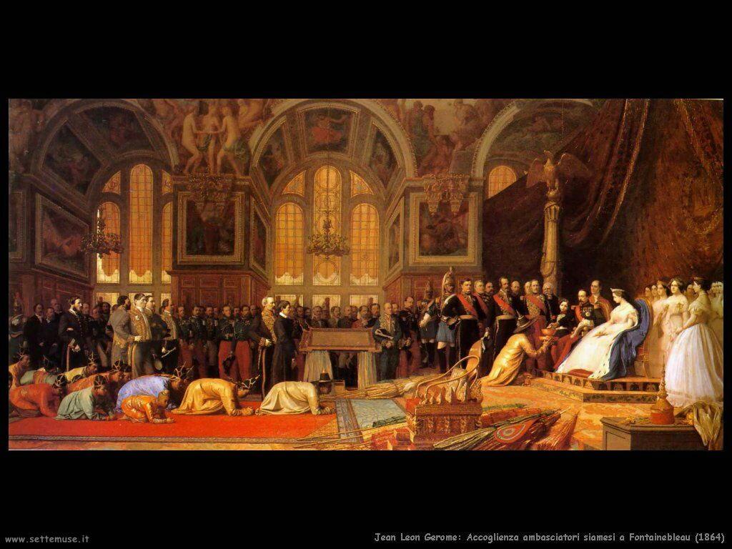 jean_leon_gerome_088_accoglienza_ambasciatori_siamesi_a_fontainebleau_1864