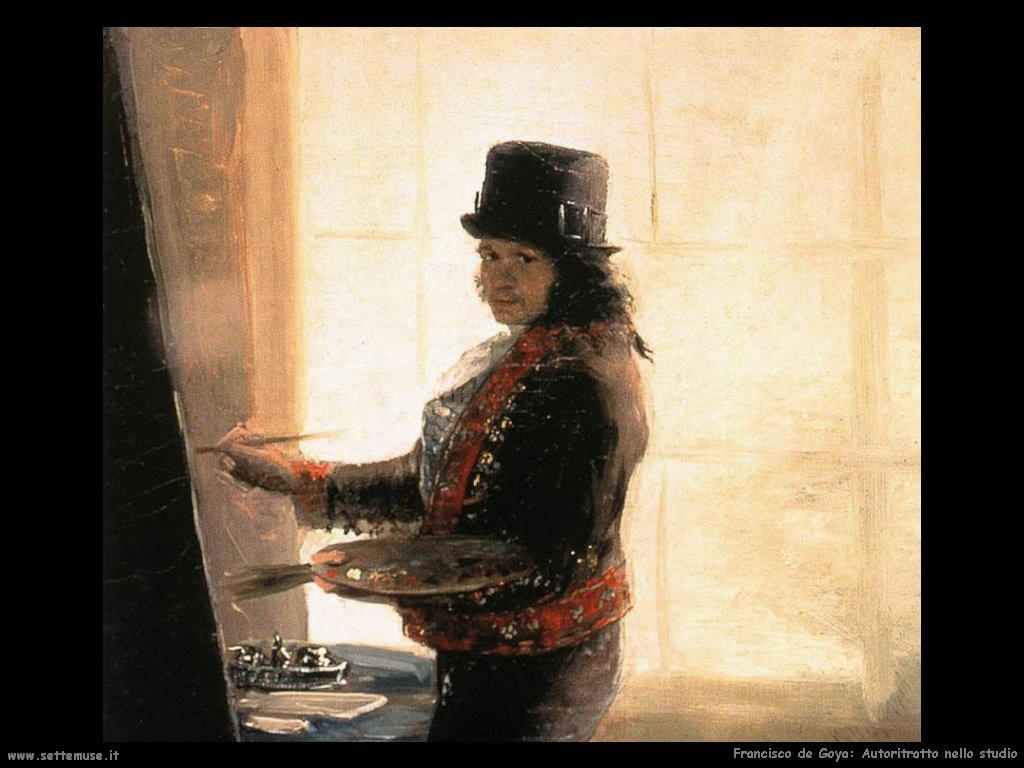 Francisco de Goya autoritratto nello studio