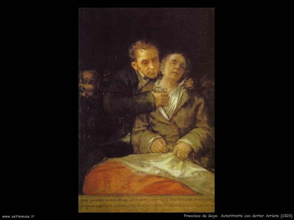 Francisco de Goya autoritratto con Dr Arrieta 1820