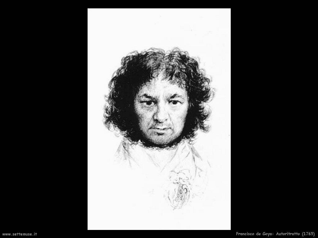 Francisco de Goya autoritratto 1765