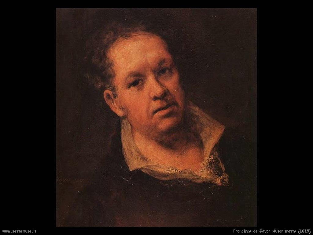 Francisco de Goya autoritratto 1815