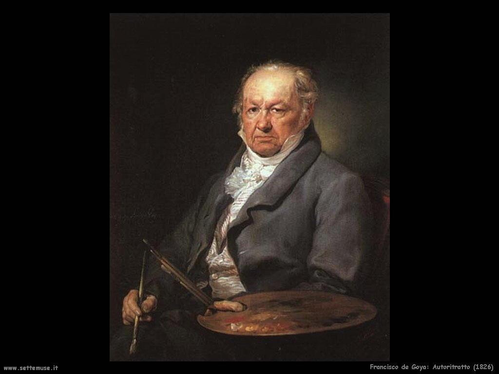 Francisco de Goya autoritratto 1826