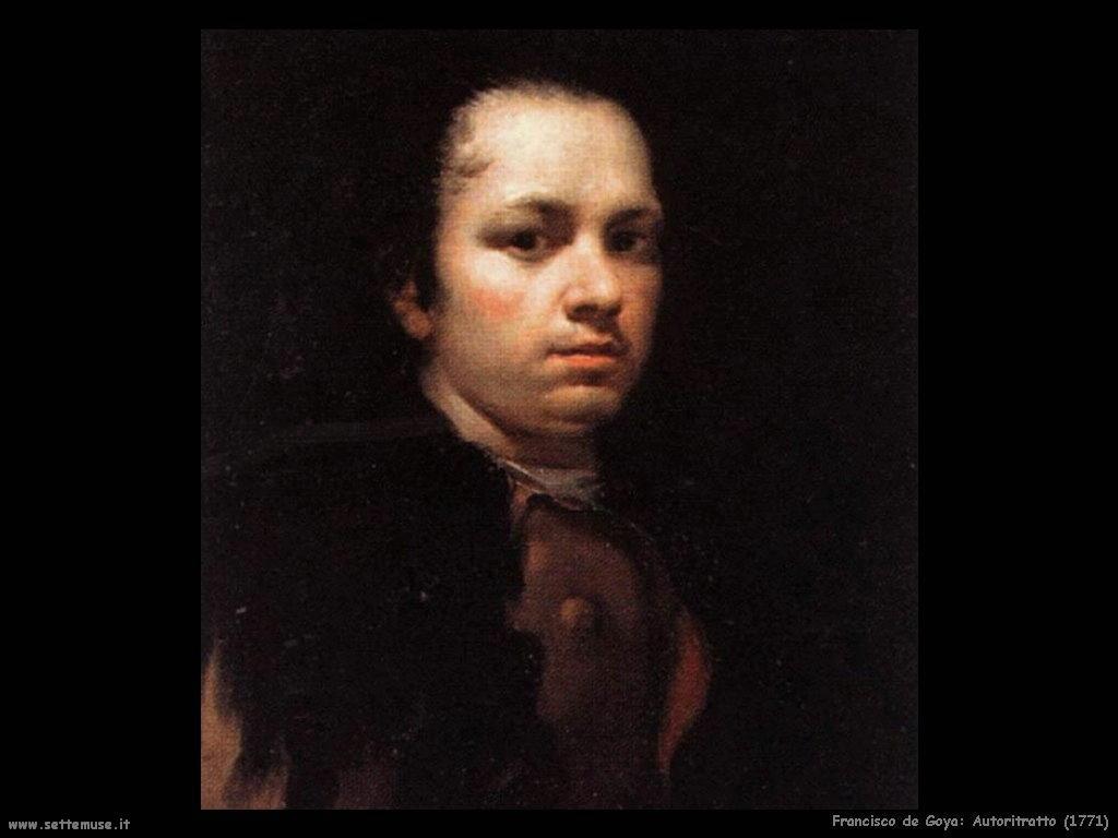 Francisco de Goya autoritratto 1771