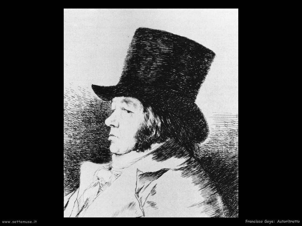 Francisco de Goya autoritratto