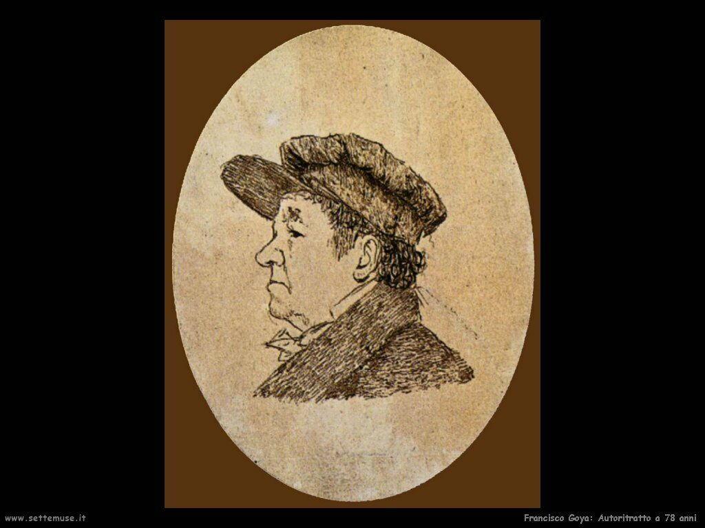 Francisco de Goya autoritratto a 78_anni