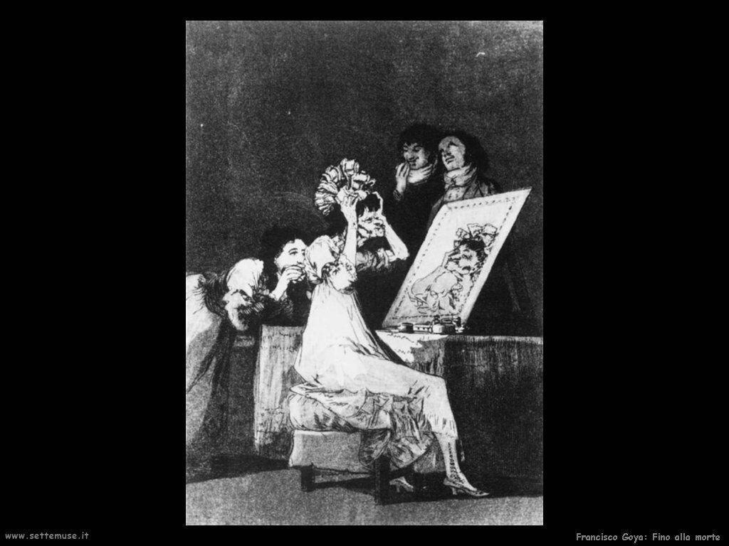 Francisco de Goya fino alla morte