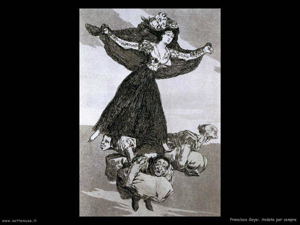 Francisco de Goya andata per sempre