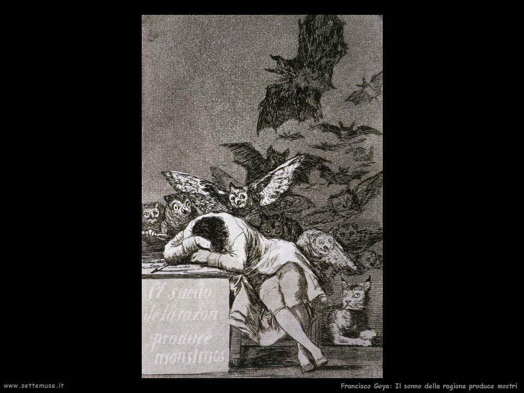 Francisco de Goya il sonno della ragione produce mostri
