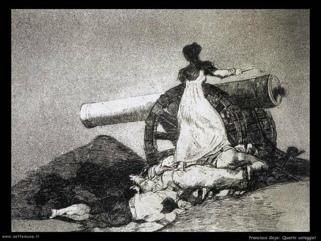 Francisco de Goya che coraggio