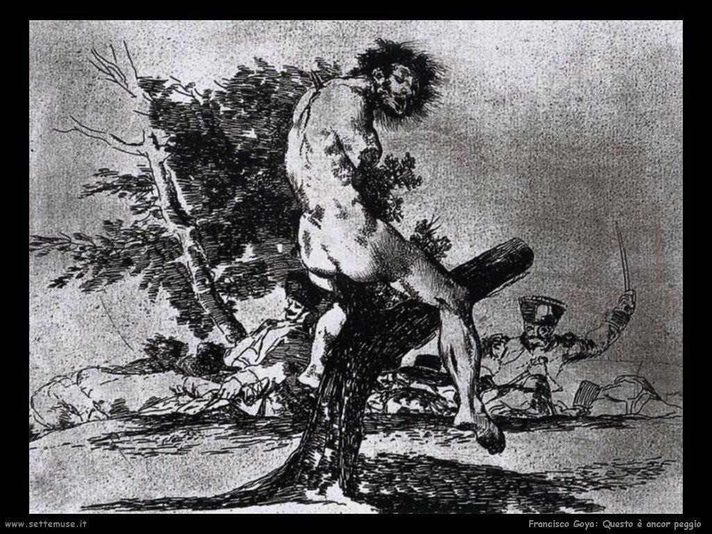 Francisco de Goya questo è peggio