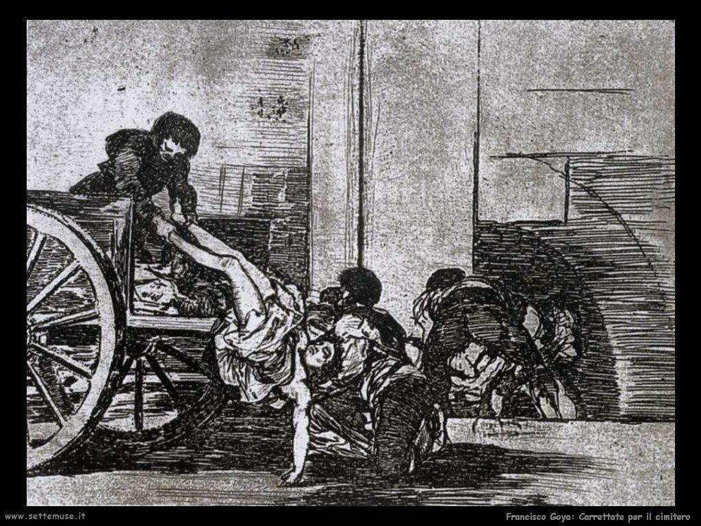 Francisco de Goya carrettate per il cimitero