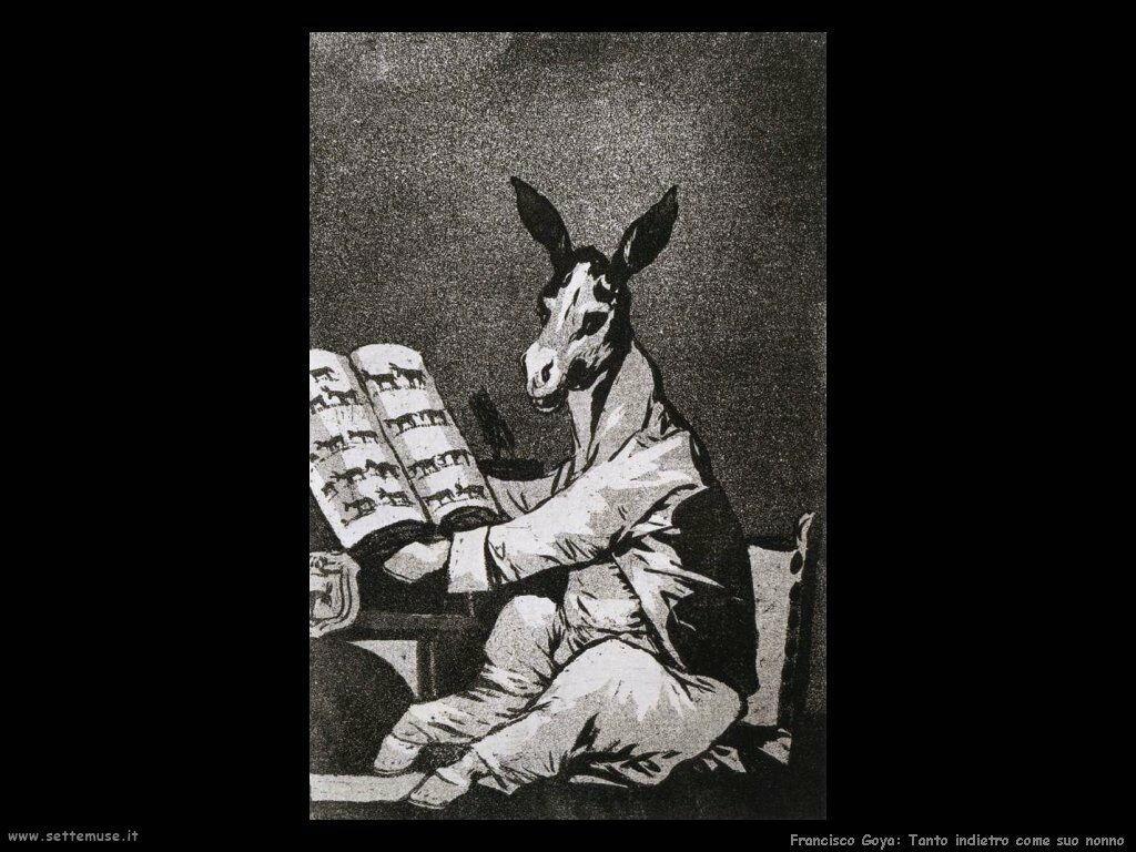 Francisco de Goya tanto indietro come suo nonno