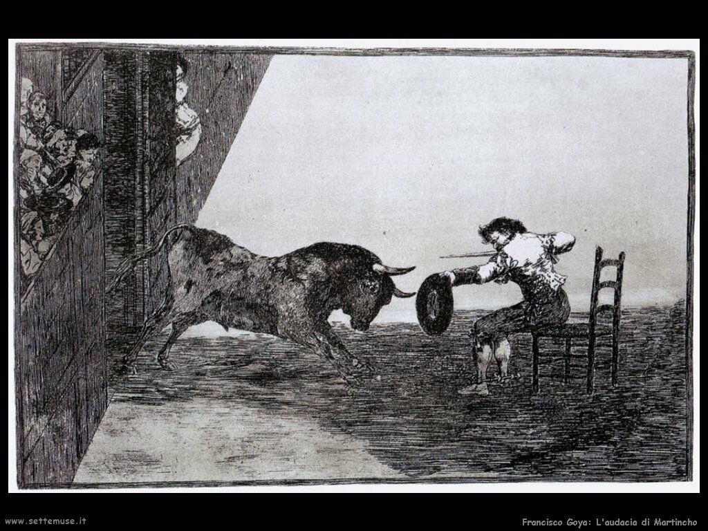 Francisco de Goya audacia di martincho