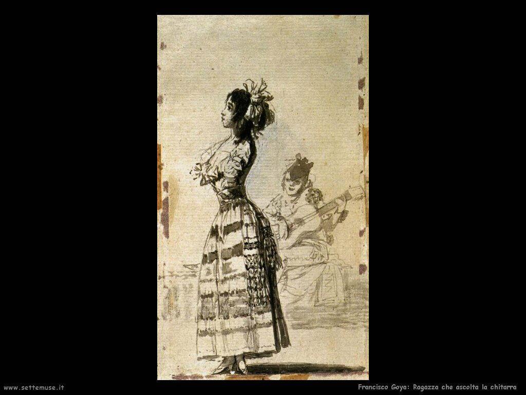 Francisco de Goya ragazza che ascolta la chitarra