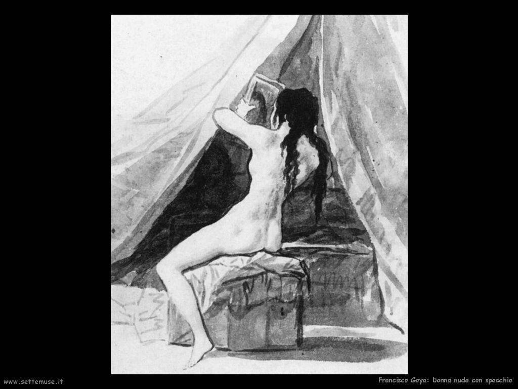 Francisco de Goya donna nuda con specchio