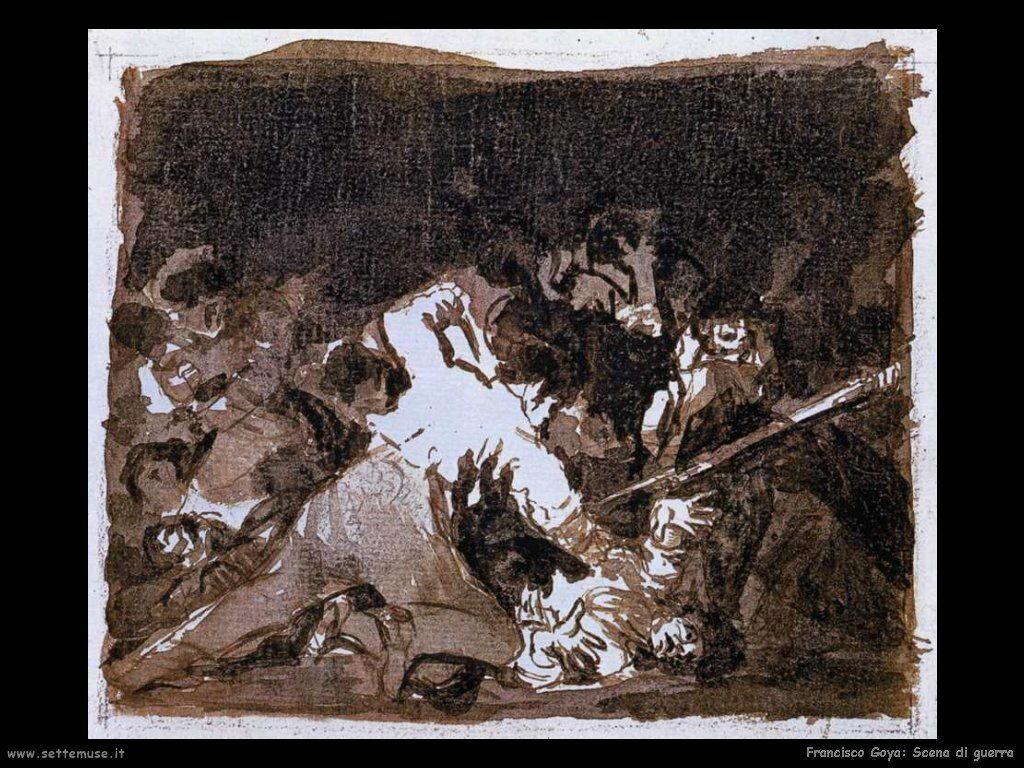 Francisco de Goya scena di guerra