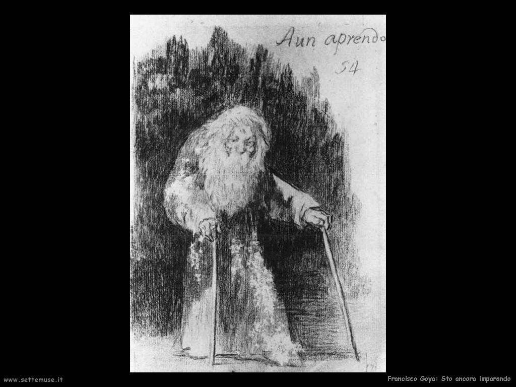 Francisco de Goya sto ancora imparando