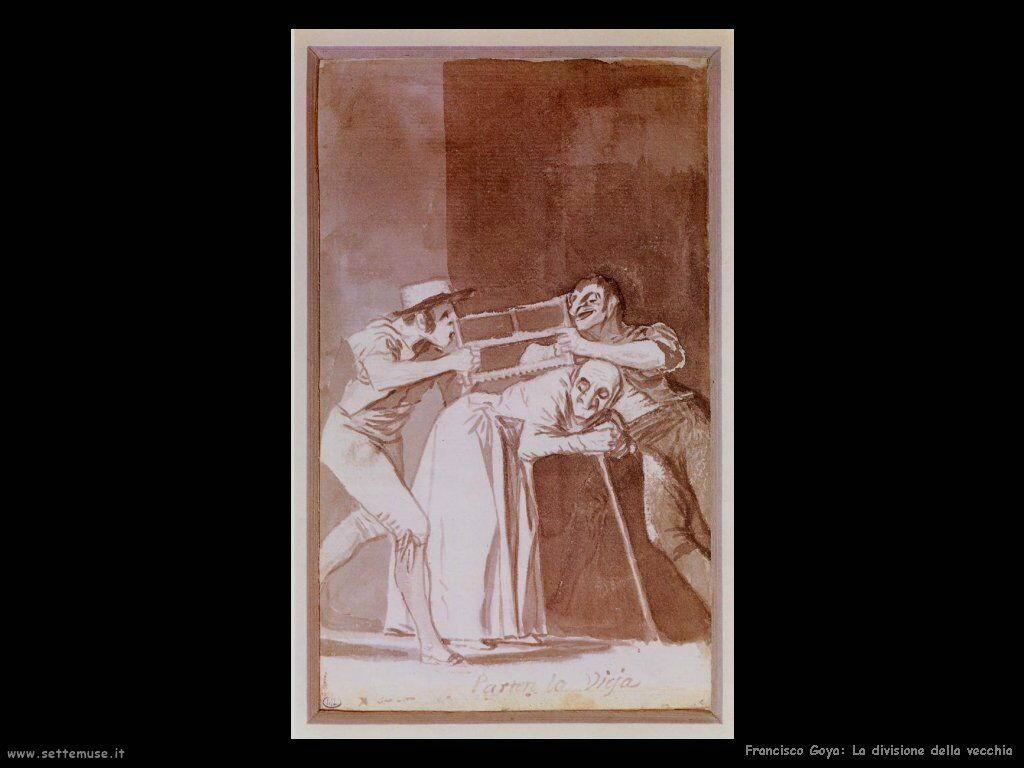 Francisco de Goya la divisione della vecchia