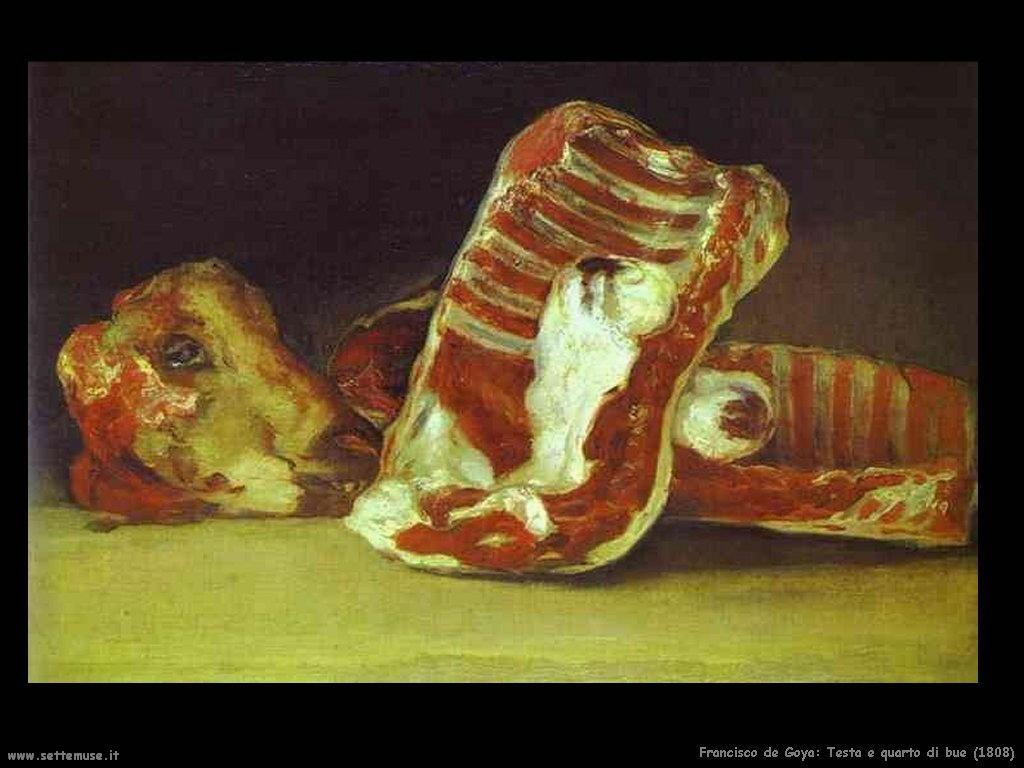 Francisco de Goya testa e quarto di bue 1808
