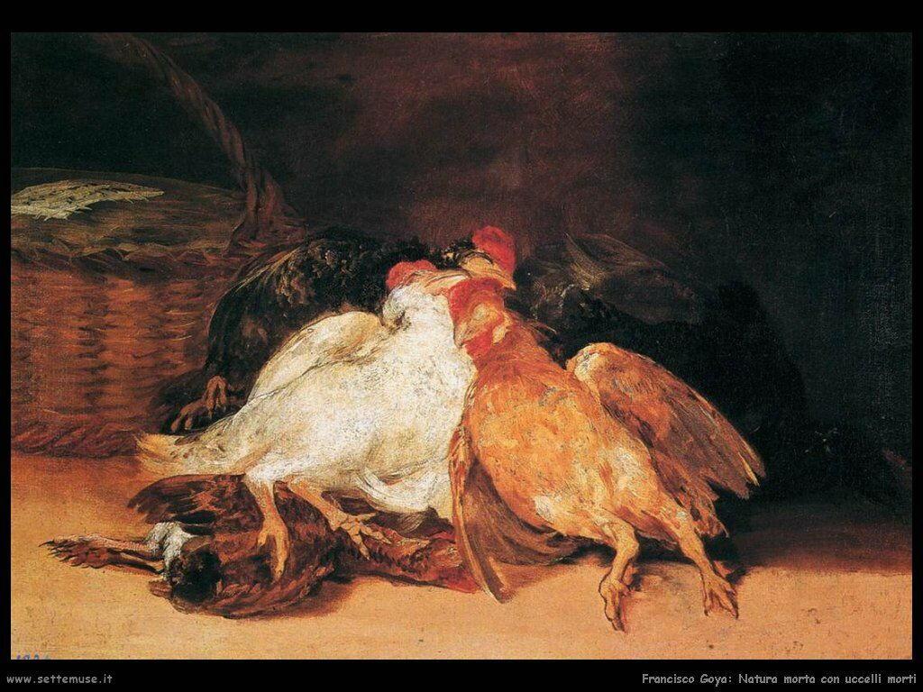 Francisco de Goya uccelli morti