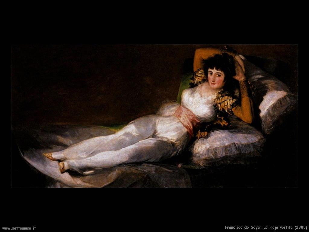 Francisco de Goya maja vestita 1800
