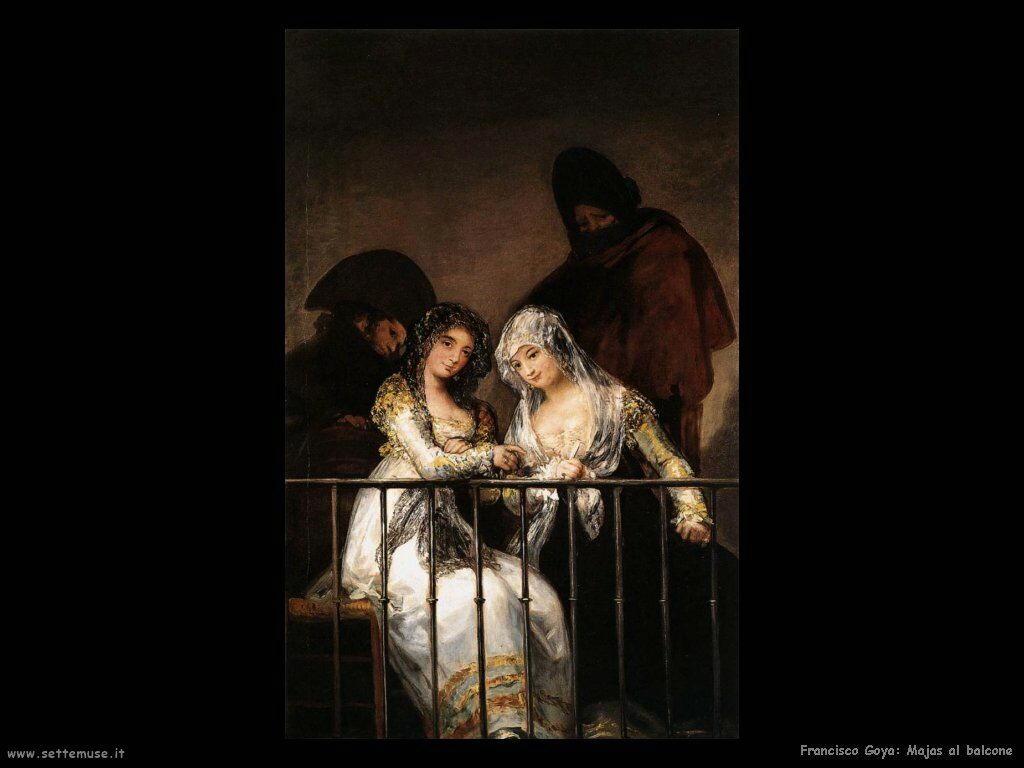 Francisco de Goya majas al balcone