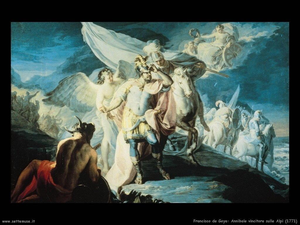 Francisco de Goya annibale vincitore sulle alpi 1771