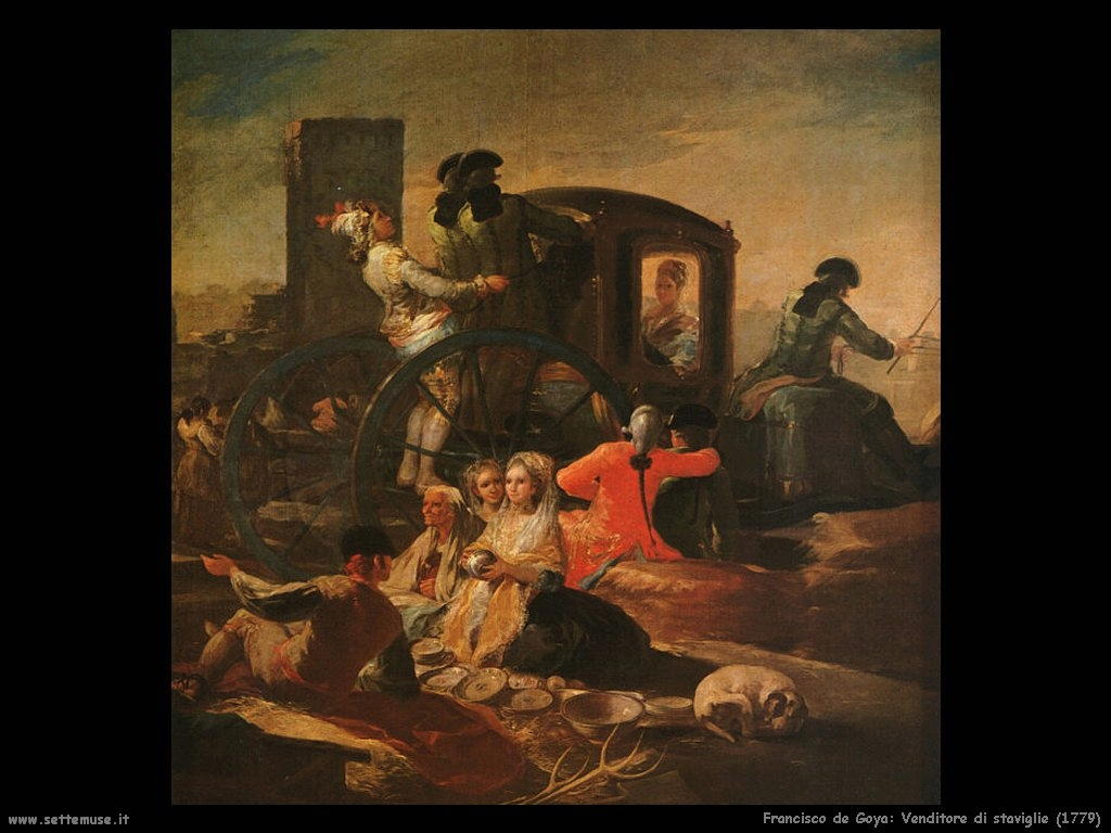 Francisco de Goya venditore di stoviglie 1779