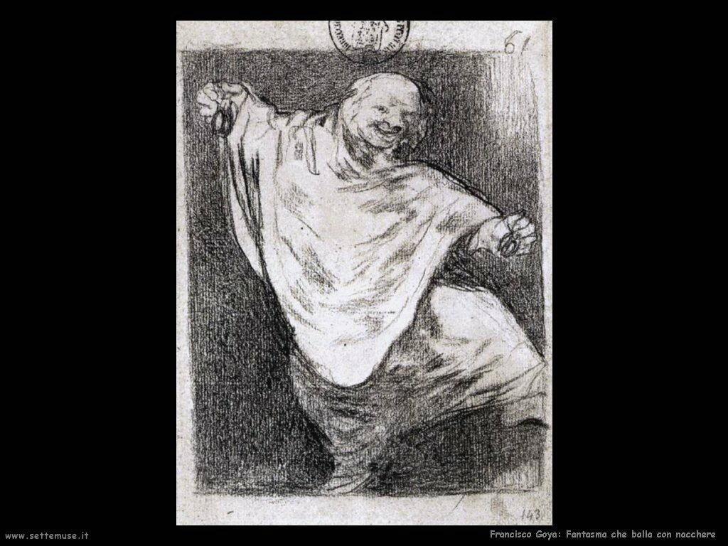 Francisco de Goya fantasma che danza con nacchere